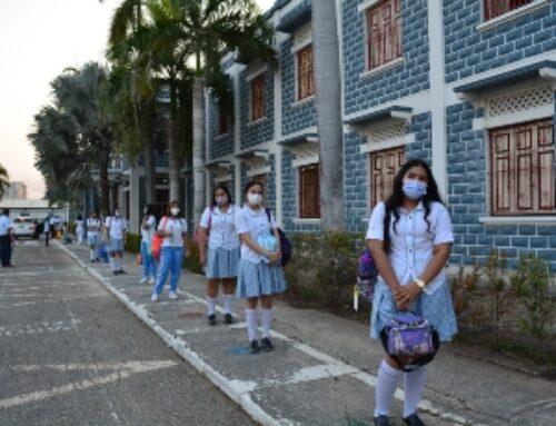 Inicia la alternancia los estudiantes de primaria y bachillerato.